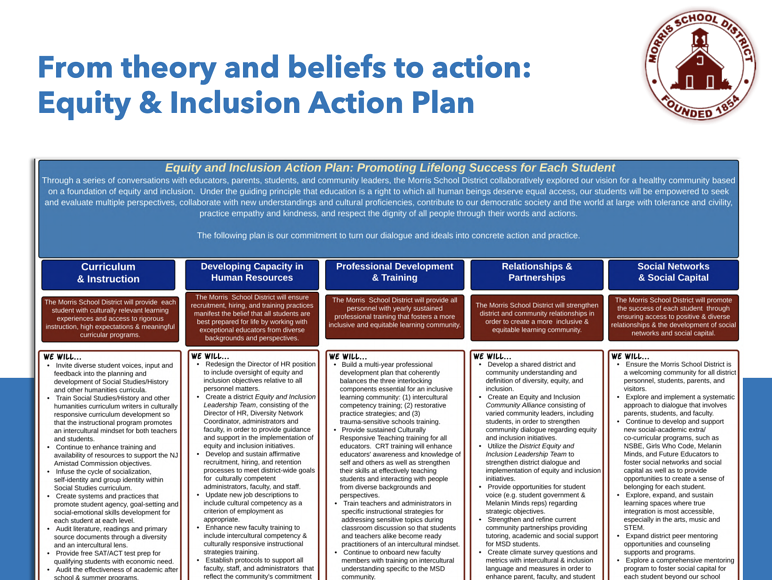 MSD Equity and Inclusion Action Plan