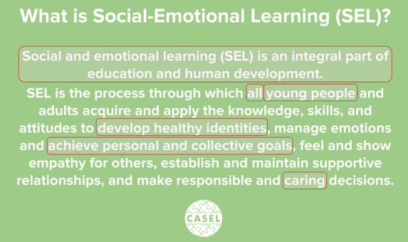 CASEL definition of SEL - 2020
