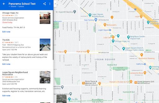 virtual community map