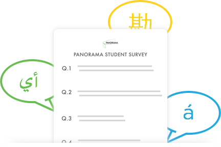 Surveys supported in 30+ languages