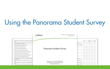 Using the Panorama Student Survey