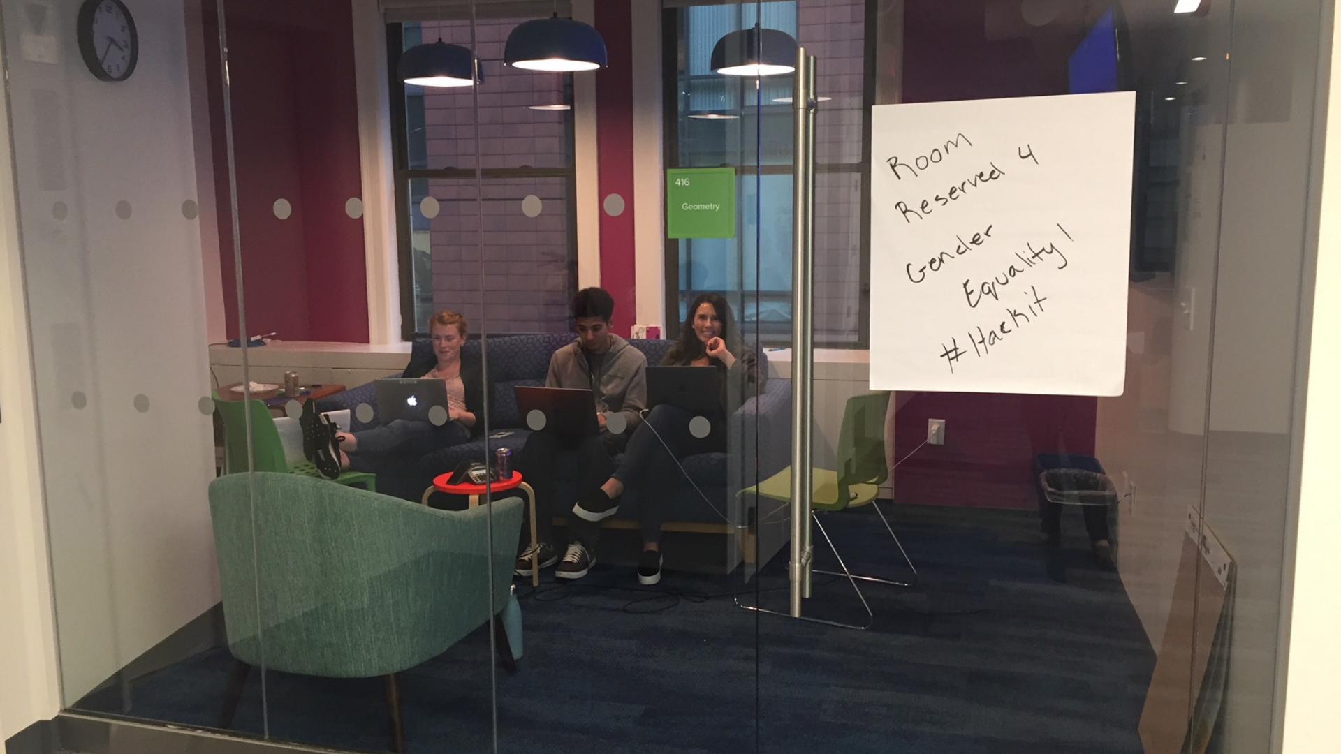 Room Reserved for Gender Equality Hackathon