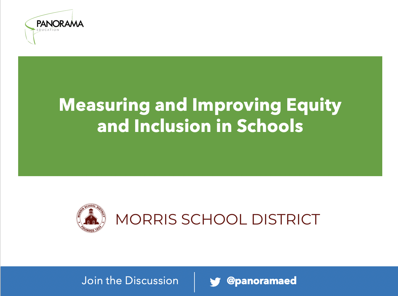 Measuring and improving equity and inclusion in Schools by Panorama