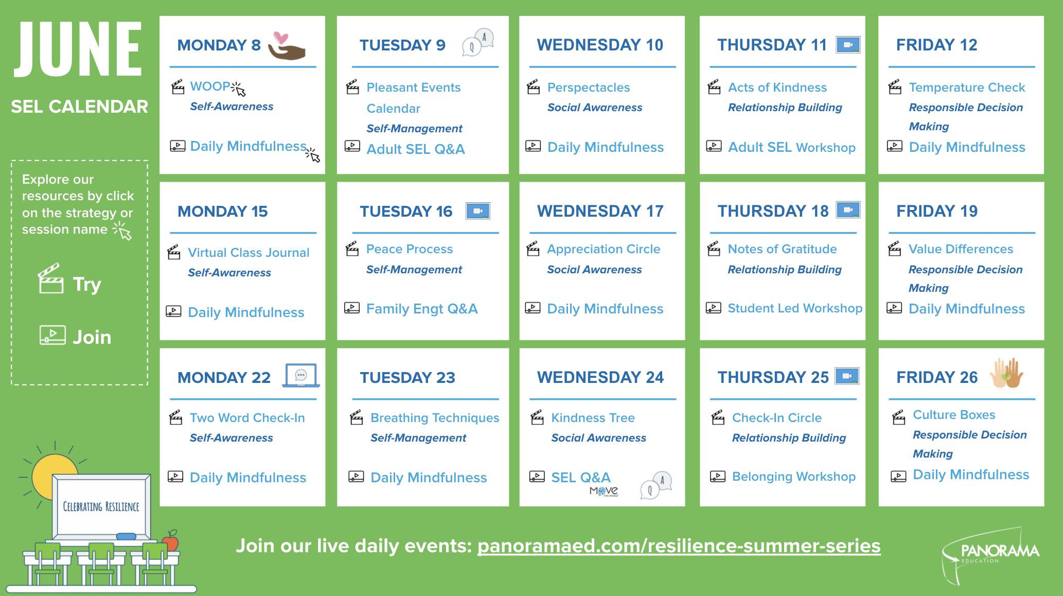 June SEL Calendar
