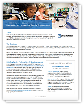 Measuring and Improving Family Engagement